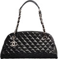 "Luxury Accessories:Accessories, Chanel Black Patent Leather Timeless Bag with Silver Hardware.Excellent Condition . 13"" Width x 6"" Height x 6""Depth..."