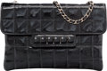 "Luxury Accessories:Bags, Chanel Black Square Quilted Patent Leather Piano Bag with GunmetalHardware. Very Good Condition. 8"" Width x 5 Height..."