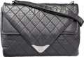 "Luxury Accessories:Bags, Chanel Black Quilted Distressed Lambskin Leather Shoulder Bag withSilver Hardware. Excellent Condition. 13"" Width x1..."