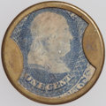 Encased Postage: , HB-50 EP-6 1¢ Joseph L. Bates Fancy Goods Extremely Fine-AboutNew.. ...