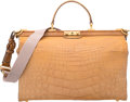 "Luxury Accessories:Bags, Gucci Matte Beige Alligator Doctors Bag. Good Condition.15.5"" Width x 12"" Height x 8"" Depth. ..."