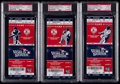 Baseball Collectibles:Tickets, 2013 World Series David Ortiz Home Run Games Full Tickets (3) -Graded PSA Germ MT 10. ...