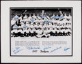 Baseball Collectibles:Photos, 1957 Brooklyn Dodgers Multi-Signed Oversized Photograph....