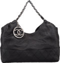 "Luxury Accessories:Bags, Chanel Black Quilted Black Leather Large Melrose Degrade Tote Bagwith Gunmetal Hardware. Pristine Condition. 17""Widt..."