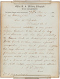 Autographs:U.S. Presidents, Abraham Lincoln: Endorsement Signed Re: Controversial Trial ofSubversives....