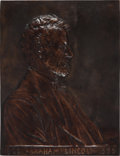 Antiques:Decorative Americana, Abraham Lincoln: Large Size Victor David Brenner Plaque....