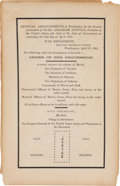 Political:Memorial (1800-present), Abraham Lincoln: Washington Funeral Program with Lincoln Family Provenance....