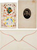Photography:Tintypes, Tad Lincoln: Tintype Portrait and Valentine....