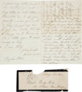 Autographs:U.S. Presidents, Mary Todd Lincoln: Autograph Letter Signed with Free FrankEnvelope....