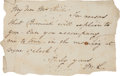 Autographs:U.S. Presidents, Mary Todd Lincoln: Autograph Note Signed....