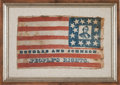 Political:Textile Display (pre-1896), Stephen A. Douglas: Wonderful Portrait Flag. ...