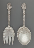 Silver Flatware, American:Gorham, A Gorham Versailles Pattern Silver Salad Serving Set,Providence, Rhode Island, designed 1888. Marks: (lion-anch...(Total: 2 Items)