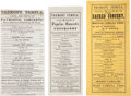 Miscellaneous:Ephemera, Civil War Era Theater. Three Concert Playbills Featuring Patrick S.Gilmore, U.S. Army Band Leader, 1863....