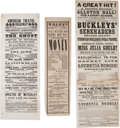 Miscellaneous:Ephemera, Civil War Era Theater. Three Large Playbills, 1862-1863....