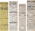 Miscellaneous:Ephemera, Civil War Era Theater. Four Tremont Theatre (Boston) Playbills,1863-1864....