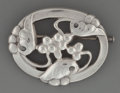 Silver Holloware, Continental:Holloware, A Georg Jensen Silver Brooch with Grape Motif, Copenhagen, Denmark,circa 1933-1944. Marks: 925, STERLING, DENMARK, GJ, 10...