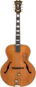 Musical Instruments:Acoustic Guitars, 1942 D'Angelico Style B Natural Archtop Acoustic Guitar, Serial #1581....