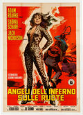 Memorabilia:Poster, Angeli Dell'Inferno Sulle Ruote [Hell's Angels On Wheels]Linen Backed Movie Poster (Fanfare Films, 1967) Four-Sheet (...