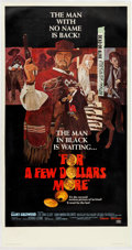 "Memorabilia:Poster, For a Few Dollars More Linen Backed Movie Poster (UnitedArtists, 1967) Three-Sheet (41.5"" x 79"")...."