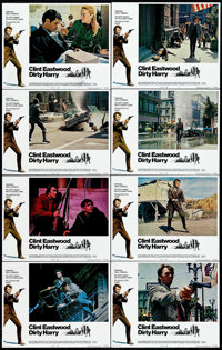"Dirty Harry (Warner Brothers, 1971). Lobby Card Set of 8 (11"" X 14""). Crime. ... (Total: 8 Items)"