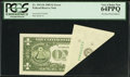 Error Notes:Foldovers, Fr. 1913-K $1 1985 Federal Reserve Note. PCGS Very Choice New64PPQ.. ...
