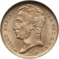 Netherlands, Netherlands: Willem I gold 10 Gulden 1828-B MS63 ANACS,...