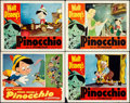 "Movie Posters:Animation, Pinocchio (RKO, R-1945/R-1954). Lobby Cards (4) (11"" X 14"").Animation.. ... (Total: 4 Items)"