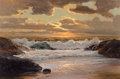 Fine Art - Painting, American:Contemporary   (1950 to present)  , Robert William Wood (American, 1889-1979). Sunset at Sea.Oil on canvas. 24 x 36 inches (61.0 x 91.4 cm). Signed lower r...