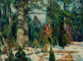 Fine Art - Painting, American:Modern  (1900 1949)  , John Fabian Carlson (Swedish/American, 1874-1945). ForestQuiet. Oil on canvasboard. 12 x 16 inches (30.5 x 40.6 cm).Si... (Total: 2 Items)