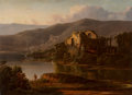 Fine Art - Painting, American:Antique  (Pre 1900), William Louis Sonntag (American, 1822-1900). Italian Landscapewith Ruins, 1854. Oil on canvas. 22 x 30 inches (55.9 x 7...