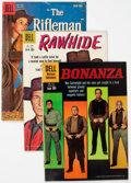 Silver Age (1956-1969):Western, Four Color TV Westerns Group of 38 (Dell, 1958-61) Condition:Average VG-.... (Total: 38 Comic Books)