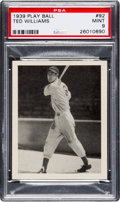 Baseball Cards:Singles (1930-1939), 1939 Play Ball Ted Williams #92 PSA Mint 9....