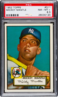 1952 Topps Mickey Mantle #311 PSA NM-MT+ 8.5