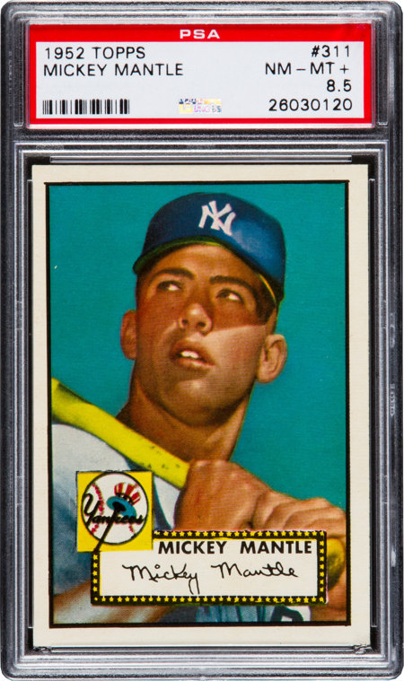 1952 Topps Mickey Mantle #311 PSA NM-MT+ 8.5....