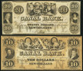 Obsoletes By State:Louisiana, New Orleans, LA- Canal Bank $10; $20 18__;. ... (Total: 2 notes)