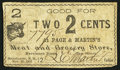 Obsoletes By State:New Hampshire, Manchester, NH- Page & Martin's Meat and Grocery Store 2¢ Nov. 25, 1863. ...