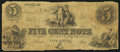 Obsoletes By State:Ohio, Unknown, OH- Unknown Issuer 5¢ Mar. 7, 1853. ...