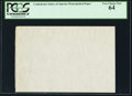 Fractional Currency:Shield, CSA Watermarked Paper - Single Block. PCGS Very Choice New 64.. ...