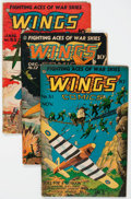 Golden Age (1938-1955):War, Wings Comics #51-60 Group (Fiction House, 1944-45) Condition:Average VG.... (Total: 10 Comic Books)