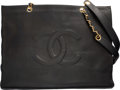 """Luxury Accessories:Bags, Chanel Black Caviar Leather Grand Shopping Tote Bag with GoldHardware. Good Condition. 16"""" Width x 12"""" Height x 4.5""""..."""