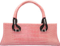 """VBH First Edition Pink Crocodile Bassotto Bag, 172/300 Excellent Condition 13.5"""" Width x 5"""" Heigh"""
