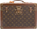 """Luxury Accessories:Travel/Trunks, Louis Vuitton Classic Monogram Canvas Train Case. Good to VeryGood Condition. 14"""" Width x 10"""" Height x 8.5"""" Depth. ..."""