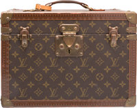 """Louis Vuitton Classic Monogram Canvas Train Case Good to Very Good Condition 14"""" Width x 10"""" Heig"""