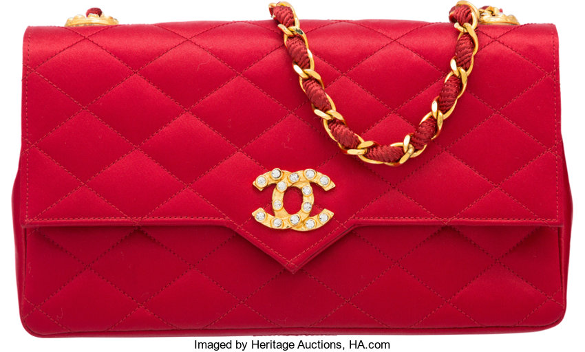 Very Good to ExcellentCondition  Luxury Accessories Bags, Chanel Red  Quilted Satin Shoulder Bag. Very Good to ExcellentCondition ... 6560393bf0