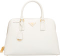 "Luxury Accessories:Bags, Prada White Patent Leather Tote Bag. Excellent Condition. 13""Width x 9"" Height x 5"" Depth. ..."