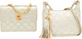 Luxury Accessories:Bags, Chanel Set of Two; Metallic Silver Quilted Lambskin LeatherShoulder & Flap Bags with Gold Hardware. Very GoodCondition... (Total: 2 Items)