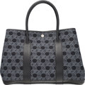 Luxury Accessories:Bags, Hermes Black Negonda Leather & Toile So H Canvas Garden PartyMM Bag with Palladium Hardware. H Square, 2004. VeryGoo...