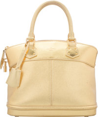 """Louis Vuitton Gold Suhali Leather Lockit Bag Excellent Condition 11"""" Width x 10"""" Height x 6"""" Depth"""