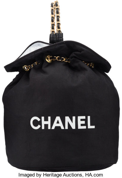 new list 2020 moderate price Chanel Black Canvas Drawstring Backpack. Excellent Condition ...