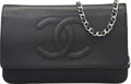 "Luxury Accessories:Accessories, Chanel Black Caviar Leather Timeless Wallet on Chain Bag withSilver Hardware. Excellent Condition. 7.5"" Width x 5""He..."